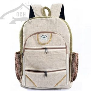 100% Handmade Multi Pocket Hemp Backpack